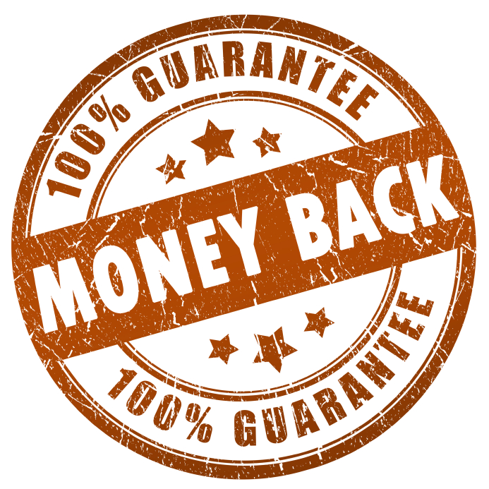 100% Money Back Guarantee on Curaderm
