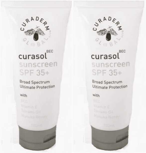 Curasol bottles Curaderm BEC5 Exclusive Holiday Offers...